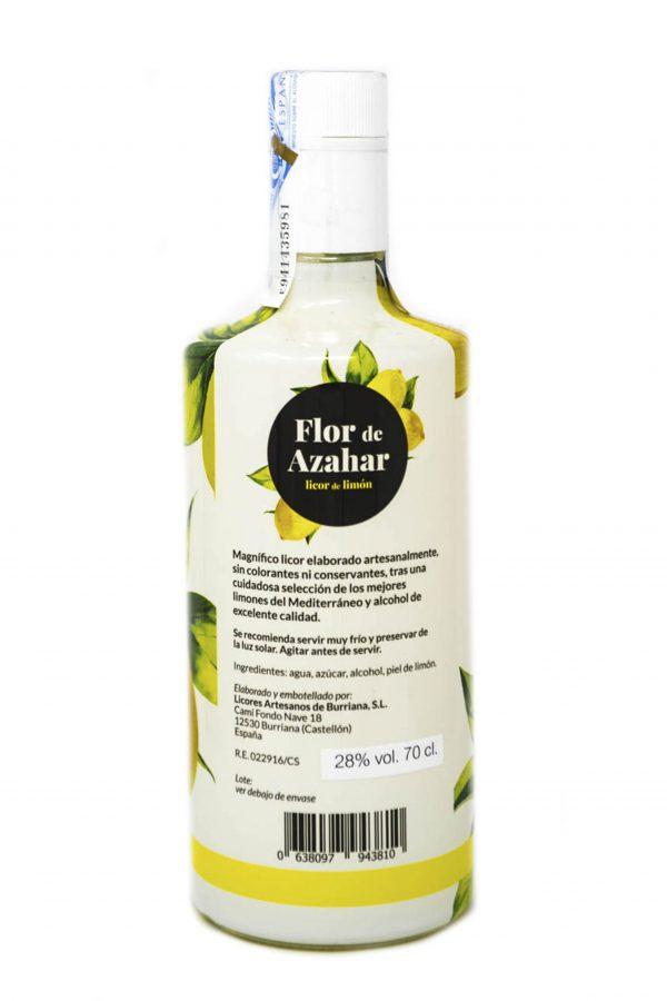 Licor sabor a Limón, Flor de Azahar